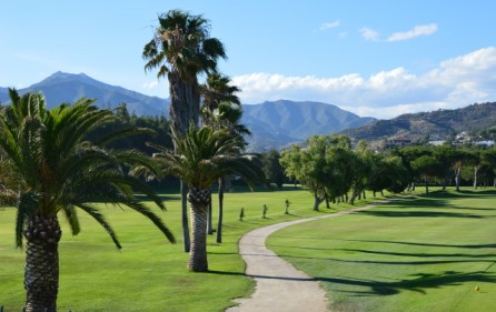 Rio Real Golf mot bergen