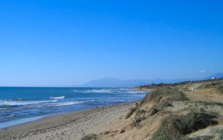 Sanddyner Cabopino naturreservat