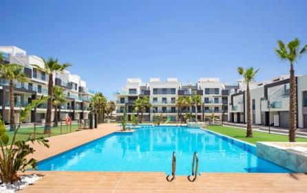 Bostadsområdet med pool