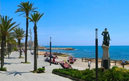 Strandpromenad i Torrevieja