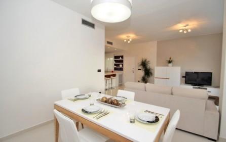 Exempel matplats i lägenhet med 2 sovrum