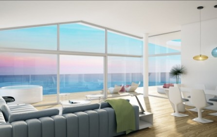 Exempel salong i takvåningar