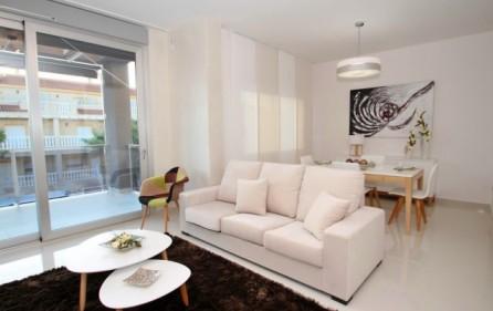 Exempel vardagsrum i lägenhet med 2 sovrum