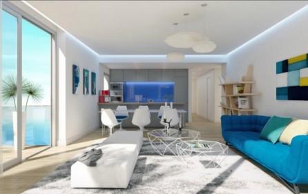 Exempel vardagsrum med öppet kök