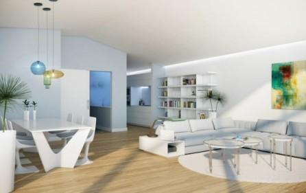 Salong med matplats i takvåningar