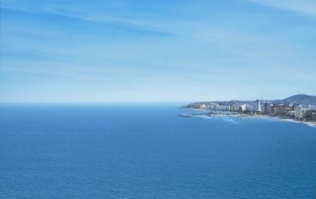 Utsikt mot hav