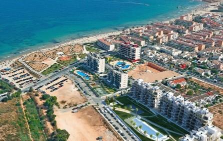 Översikt bostadsområdet mot havet
