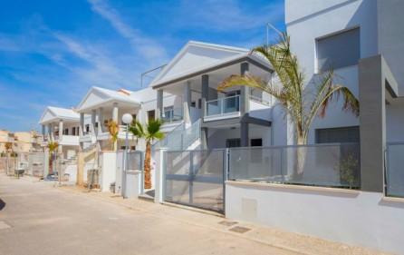 Olika terraser i bostadsområdet