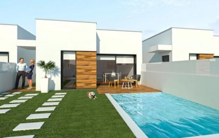 Radhus med möjlighet att välja till privat pool
