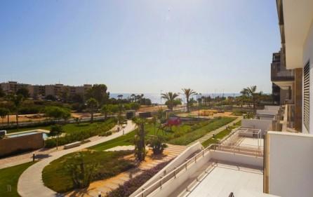 Utsikt mot havet från bostadsområdet