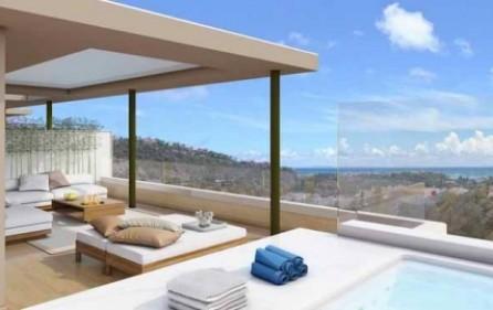 Exempel takterrass med privat pool
