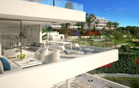 Exempel terrass mot poolområde