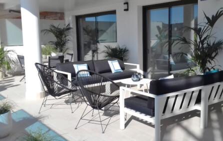 Exempel terrass mot vardagsrum
