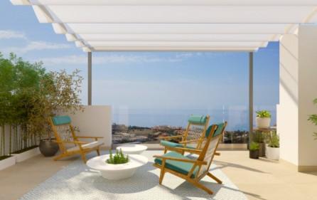 Exempel terrass med öppen havsutsikt