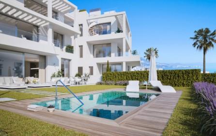 Exempel terrasser i markplan med trädgård