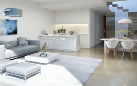 Vardagsrum mot öppet kök