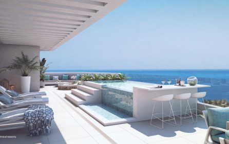 Exempel terrass på takvåning