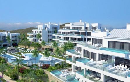 Exempel olika terrasser med egen pool