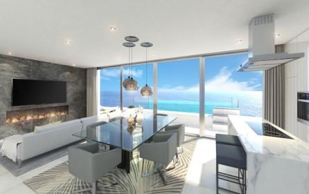 Vardagsrum med öppet kök
