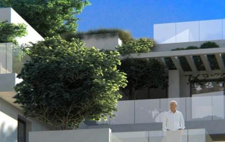 Exempel terrasser i mellanplan