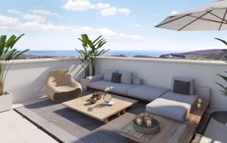 Exempel terrass i takvåning