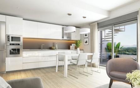Exempel öppet kök i vardagsrum
