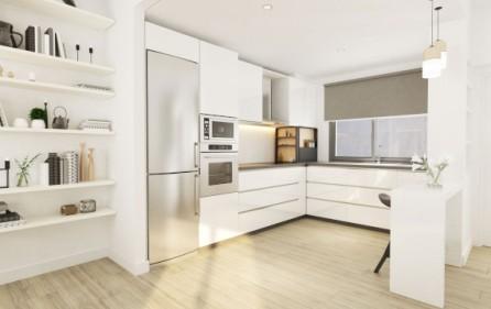 Exempel radhus med öppet kök
