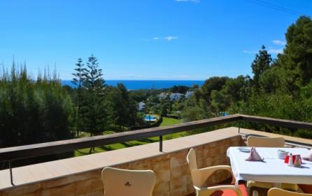 Utsikt från La Siesta golfrestaurang