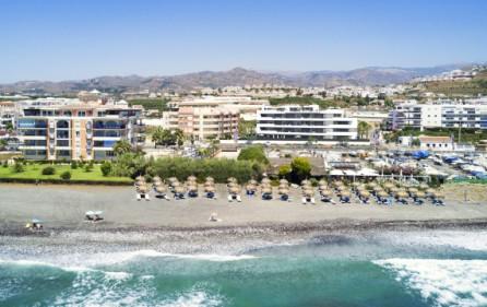 Stranden vid bostadsområdet