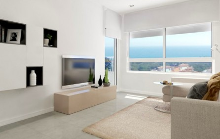 Exempel vardagsrum med havsutsikt