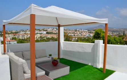 Lounge på den egna takterrassen