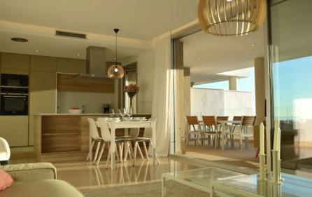 Öppet kök i vardagsrum