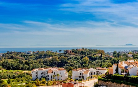 Utsikt mot hav och Gibraltar
