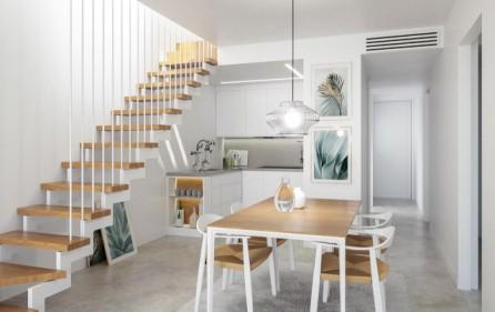 Öppet kök i takvåningar