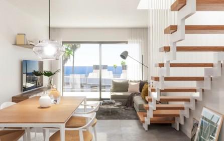 Vardagsrum i takvåningar
