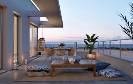 Exempel utsikt från takvåning