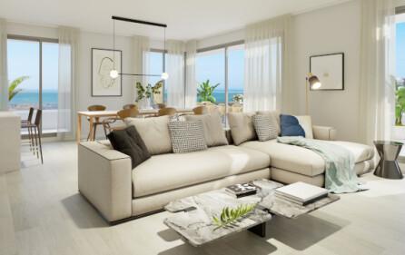Exempel vardagsrum i takvåning