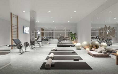 Gym i bostadsområdet