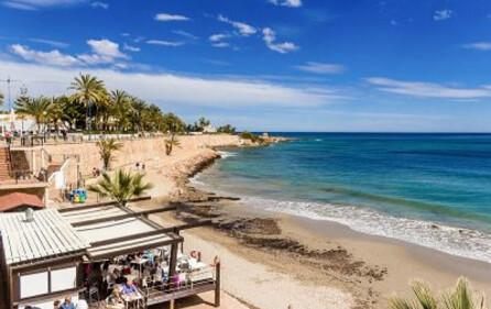 Strandrestaurang i Punta Prima
